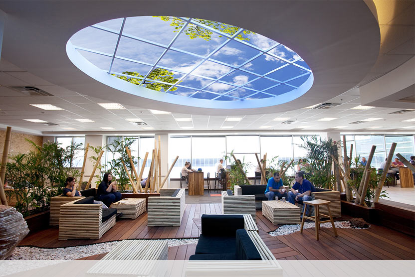 Custom Elliptical Luminous SkyCeiling at Fortune 500 Company in Kiryat Gat, Israel