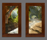 Photo Mural 8fkL_2-22x40vr_rustic_walnut